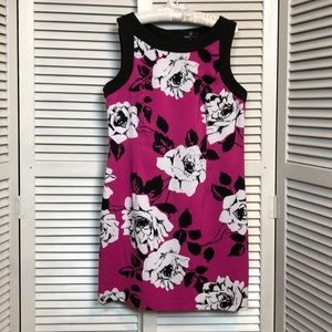 LN Ronni Nicole Pink Floral Sheath Dress - Sz 14